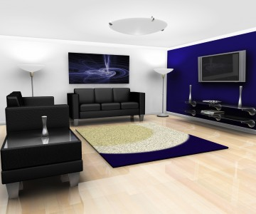 Contemporary lounge interior